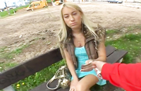 Hottie needed cash, that is why I fucked this young blonde slut and filmed it